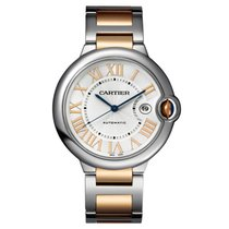 Cartier Ballon Bleu 42mm Steel & 18K Rose Gold Watch