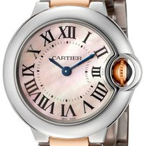 Cartier W6920034 Ballon Bleu 28mm Pink Pearl Women 18KR Gold...