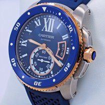 Cartier Calibre De Cartier Diver W2ca0009 Blue 42mm Automatic...