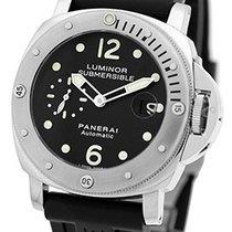 """Panerai Gent's Stainless Steel  PAM 24 44mm """"Luminor..."""