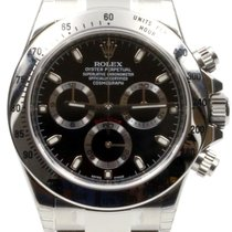 Rolex Cosmograph Daytona 116520 Black Stainless Steel 40mm