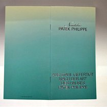 Patek Philippe Katalog / Booklet zur Jumbo NAUTILUS Referenz 3700