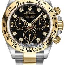 Rolex Cosmograph Daytona Steel and Gold 116503 Black Diamond...