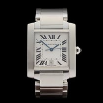 Cartier Tank Francaise Stainless Steel Unisex 2302 or W51002Q3...