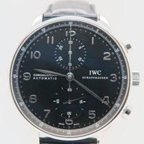 IWC Portuguese Chronograph Black Dial Ref. IW371447 (Box&P...