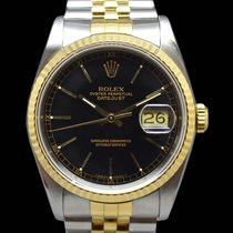 Rolex Datejust Steel Gold 16233 Black Dial