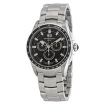 Armani Black Dial Chronograph Men's Watch
