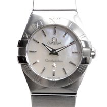 Omega Constellation Stainless Steel White Quartz 123.10.24.60....