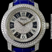 Piaget Limelight 18k White Gold Pave Diamond Case & Dial...