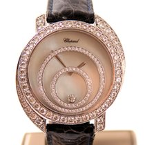 Chopard 18 K. whitegold Happy Spirit Diamonds  39 mm.