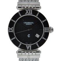 Charriol Alexandre 36mm Stainless Steel Black Dial On Steel...