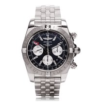 Breitling Chronomat 44mm GMT Black Automatic Mens Watch...