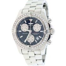 Breitling Chrono Colt 41MM Black Concentric Dial Steel A73380...