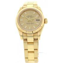 ロレックス (Rolex) Ladies Rolex Datejust 18K Yellow Gold Watch 179178