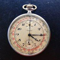 Doxa Antike Military Taschenuhr Schaltrad Chronograph