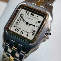 까르띠에 (Cartier) Panthere gold and steel one band quartz with...