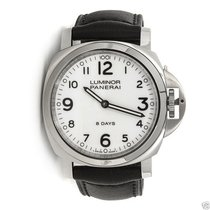Panerai PAM00561 Luminor Base 8 Days Acciaio Mechanical White...
