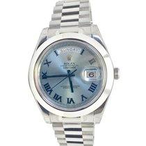 Rolex Day-Date II / President II 41mm Ice Blue Roman Platinum