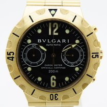 Bulgari Diagono Scuba Chronograph Yellow Gold Full Set