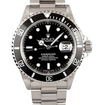 Rolex Submariner Date Black Dial Stainless Steel Mens Watch 16610
