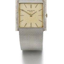 Patek Philippe | A White Gold square Bracelet Watch Ref 3494...