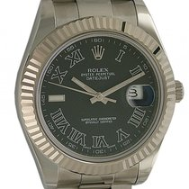 Rolex Datejust II Stahl Weißgold Automatik Oyster Armband 41mm...
