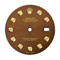 Rolex DateJust 36mm Chocolate/ Diamond Hour Markers Custom Dial