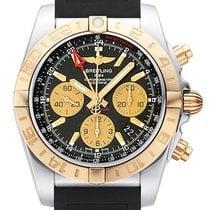百年靈 (Breitling) Chronomat 44 GMT Chronograph Pink Gold Rubber...