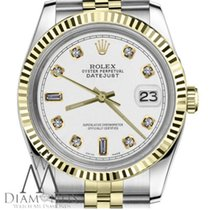 Rolex White Woma's Rolex 26mm Datejust 18k Gold Ss 2tone...