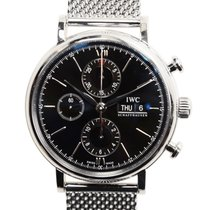 IWC Portofino Chronograph Stainless Steel Black Automatic...