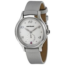 Montblanc Princesse Grace de Monaco White Dial Leather Ladies...