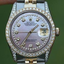 Rolex Mens 16233 Datejust 18k Gold Stainless Steel Diamond...