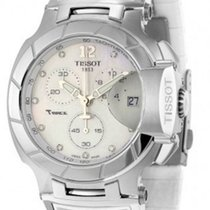 Tissot T0484171711600 TRace Chronograph Pearl Dial Unisex...