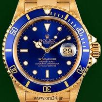 Ρολεξ (Rolex) Submariner 16618 Date  Unpolished 18k Gold  MINT