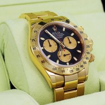 Rolex Daytona 116528 18k Yellow Gold Black Racing Dial...