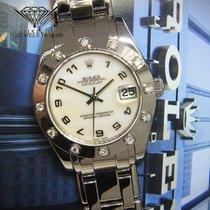 Rolex Datejust Pearlmaster 34mm 18k White Gold Diamond Bezel...
