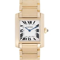 Cartier W50003N2 Tank Francaise in Yellow Gold - On Yellow...