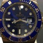 Ρολεξ (Rolex) SUBMARINER CERAMIK YELLOW GOLD BLUE DIAL 5 YEARS...