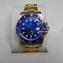 勞力士 (Rolex) Full Yellow Gold Submariner Blue dial