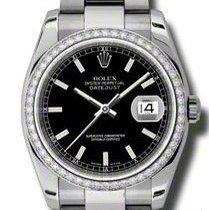 ロレックス (Rolex) Datejust, Ref. 116244 - schwarz Index ZB/Oysterband