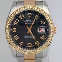 Rolex Datejust 36mm Two Tone  Aftermarket Diamond Bezel...