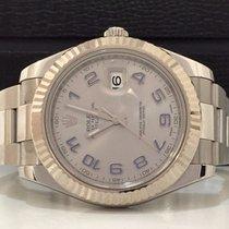Rolex Datejust Il 41mm Bezel Ouro Branco Grey Dial Impecável 2014