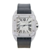 Cartier Santos 100 Full Diamonds
