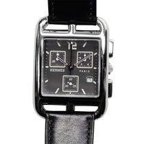 Hermès Watch Cape Cod Chronograph Stainless Steel Dark Grey...