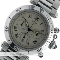 Cartier Pasha Chronograph 38 mm Stahl Quarz