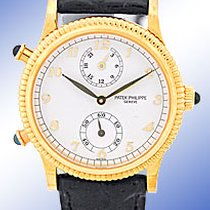 "Patek Philippe Lady's 18K Yellow Gold  Ref. #4864 ""Tra..."