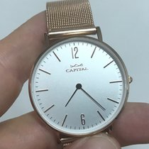 Capital gold plated quarzo 36 mm