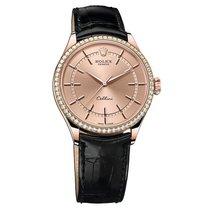 Rolex Cellini Pink Dial Diam Bezel Rose Gold