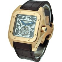 Cartier W2020019 Santos 100 Flying Tourbillon XL in Rose Gold...