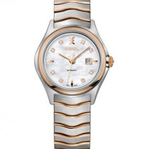Ebel Wave Lady Steel Rose Gold Case, Mother of Pearl Dial